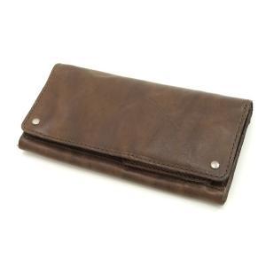 ロングウォレット/長財布 牛革製ウォッシャブルレザー PI-2844 ダークブラウン 新品|rodeomatubara