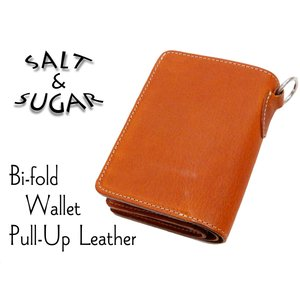 メンズ レザーウォレット 牛革製 二つ折り 財布 サイフ ソルト・アンド・シュガー PI-2860 キャメル 新品|rodeomatubara