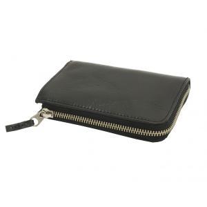 ソルトアンドシュガー ミドルウォレット L字 ラウンドファスナー イタリア産レザー 財布 PI-2863 ブラック 新品|rodeomatubara