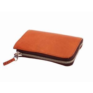ソルトアンドシュガー ミドルウォレット L字 ラウンドファスナー イタリア産レザー 財布 PI-2863 キャメル 新品|rodeomatubara