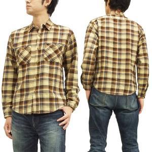 SUGAR CANE ワークシャツ 東洋エンタープライズ フランネル チェック長袖シャツ Made in U.S.A. sc26291 ブラウン 新品