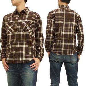 SUGAR CANE 長袖シャツ ツイルチェック ワークシャツ sc26311 ブラウン 新品