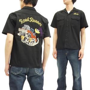 シュガーケーン ロードランナー ワークシャツ SC37641 Sugar Cane メンズ 半袖シャツ 黒 新品