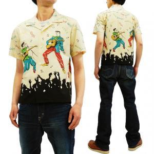 スターオブハリウッド オープンシャツ KING OF ROCK'N'ROLL エルヴィス・プレスリー コットンシャツ SH38116 オフ 新品|rodeomatubara