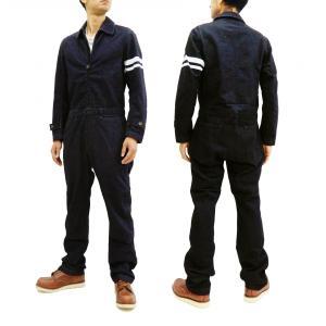桃太郎ジーンズ デニム ジャンプスーツ momotaro Jeans オールインワン つなぎ 出陣ライン SJ3114 新品|rodeomatubara