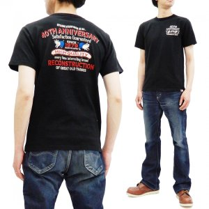 ステュディオダルチザン 40周年 刺繍Tシャツ Studio D'artisan 半袖Tシャツ ブラ...