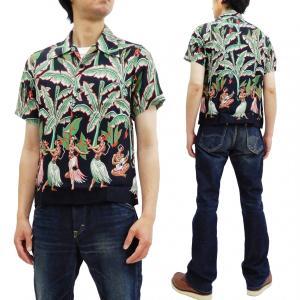 サンサーフ アロハシャツ SS38202 バナナツリー スペシャルエディション Sun Surf メンズ ハワイアンシャツ ブラック 新品|rodeomatubara