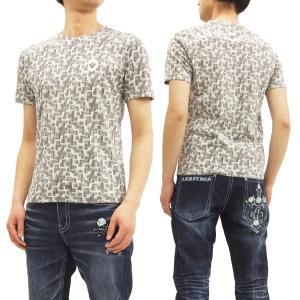 ビーアンビション Tシャツ Be Ambition 幾何学グラフィック 半袖Tシャツ PUワッペン&ロゴ刺繍 T28102 オフ白 新品|rodeomatubara