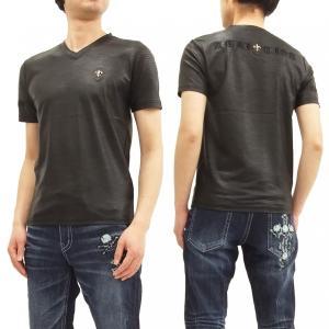 ビーアンビション Tシャツ Be Ambition パイソングラフィック 蛇柄 Vネック 半袖Tシャツ PUワッペン&ロゴ刺繍 T28105 黒 新品|rodeomatubara