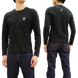 ビーアンビション 長袖Tシャツ Be Ambition ジャガード ニットライク ロンT PUワッペン&ロゴ刺繍 T28204 黒 新品|rodeomatubara