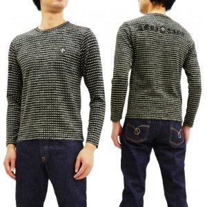 Be Ambition ニットカット 長袖Tシャツ ビーアンビション ドット織 ロンT ワッペン&ロゴ刺繍 T28205 グレー 新品|rodeomatubara