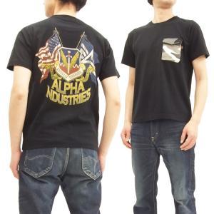アルファ Tシャツ ALPHA メンズ ミリタリー 半袖Tシャツ M-65ポケット TC1262-0...