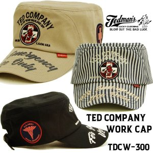 テッドマン ワークキャップ TEDMAN 帽子 エフ商会 米国軍医学部 ツイル地コットンキャップ T...