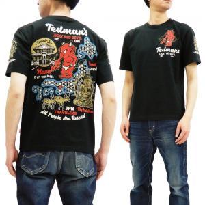 テッドマン 半袖Tシャツ TEDMAN Tシャツ 古都 奈良の大仏 エフ商会 TDSS-496 ブラ...