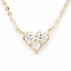 ダイヤモンドネックレス ハート 18金 ピンクゴールド|roko-a-la-mode
