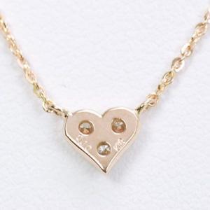 ダイヤモンドネックレス ハート 18金 ピンクゴールド|roko-a-la-mode|02