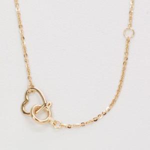 ダイヤモンドネックレス ハート 18金 ピンクゴールド|roko-a-la-mode|03