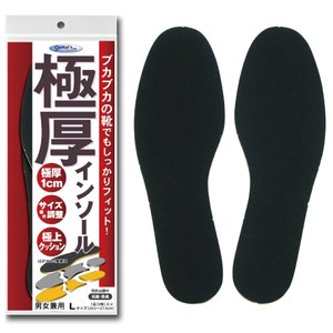極厚インソール 男女兼用 1足入 L(25~27.5cm)|rokufi