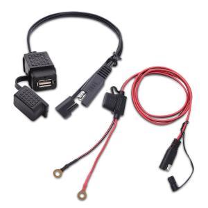 MICTUNING バイク用 USBチャージャ 取付簡単 2.1A SAE 防水オートバイ のUSB充電器キット 24月保証|rokufi