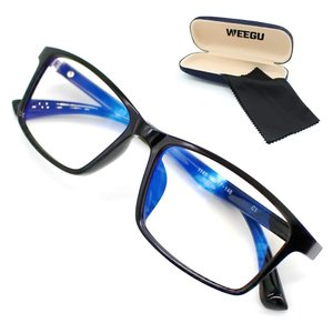 WEEGU ブルーライトカット メガネ pc メガネ ブルーライト メガネ ウェリントンタイプ ファッション rokufi