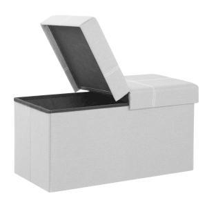 SONGMICS 収納スツール 収納ベンチ 折りたためる 品質へこだわり 耐荷重300kg 場所取らない NLSF41H rokufi