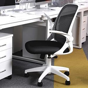 KERDOM 椅子 テレワーク オフィスチェア 人間工学椅子 デスクチェア メッシュバックチェア 腰に良い 学習 おしゃれ 事務 人気 白|rokufi