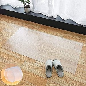 【拭くだけ】 キッチンマット ダイニングマット 透明 60×240cm クリアマット 1.5mm厚 床保護マット クリアチェアマット PVCマット 滑り止め・防塵・防水・耐久 rokufi