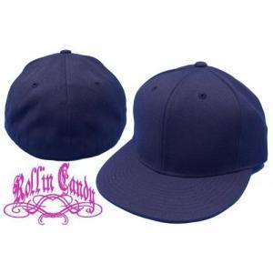 カスタム自在♪無地ベースボールキャップ 【ネイビー】 ダンサー ダンス 衣装 野球帽 メンズ レディース キッズ 帽子 小さいサイズ 大きいサイズ ヒップホップ|rollincandy