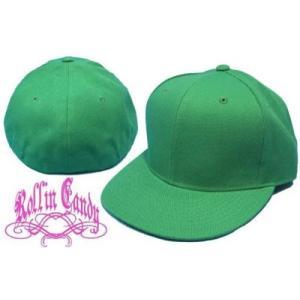 カスタム自在♪無地ベースボールキャップ 【グリーン】 ダンサー ダンス 衣装 野球帽 メンズ レディース キッズ 帽子 小さいサイズ 大きいサイズ ヒップホップ|rollincandy