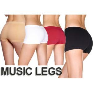 MusicLegs(ミュージックレッグ)シームレスオペークボーイズショーツ/ボクサーパンツ 120 下着 ブラック ホワイト レッド ベージュ 黒白赤 rollincandy
