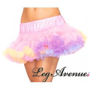 Leg Avenue(レッグアベニュー) レインボートリムチュールミニパニエ A1838 チュチュ/ペチコート ユニコーン 妖精 コスプレ ダンス衣装 大きいサイズ|rollincandy