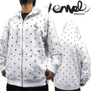 アウトレットSALE!TempleEffectivesティアードロップ総柄ジップアップパーカー XL 2XL 大きいサイズ白黒ヒップホップB系HIPHOPダンス衣装キッズダンサーメンズ|rollincandy