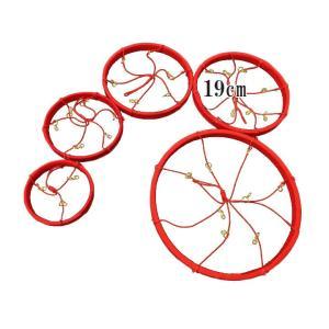 つるし雛用 ちりめんリング 4番 直径19cm 赤 TR-600-19RD d795