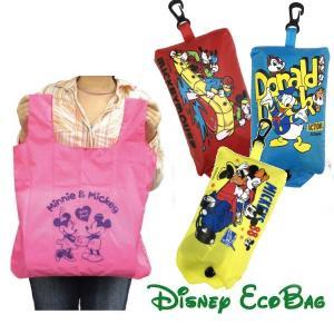 折りたたみバッグ マイバッグ Disney キャラクター 収納ケース付き メール便可|romanbag