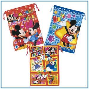 Disney巾着 激安 ディズニー 巾着袋 給食袋 上履き入れ 小物入れに Mサイズ メール便可 romanbag