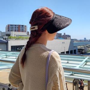 即納品 紫外線防止 サンバイザー UVカットキャップ レディース  薔薇柄 バイザー|romanbag