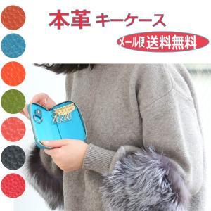 スマートキー対応 キーケース 本革 レディース メンズ 6連キーホルダー カード入付き ソフトレザー romanbag