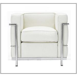 イタリア本革 デザイナーズソファの定番 ル・コルビジェ シリーズ GRANDComfort 1人掛けソファ LC2 1P ホワイト|romanbag