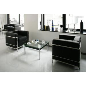 イタリア本革 デザイナーズソファの定番 ル・コルビジェ シリーズ GRANDComfort Aタイプ 3点セット(1+1+70)|romanbag
