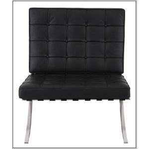 イタリア本革 デザイナーズソファ バルセロナチェア Barcelona chair シリーズ 1人掛け 1P ブラック|romanbag