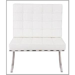 イタリア本革 デザイナーズソファ バルセロナチェア Barcelona chair シリーズ 1人掛け 1P ホワイト|romanbag