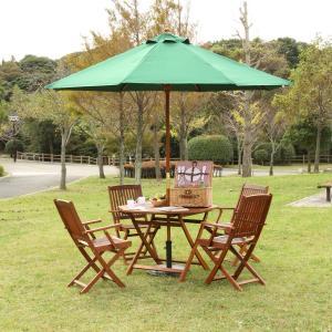 木製パラソル270cm 運動会 バーベキュー キャンプ アウトドア レジャー ビーチ 屋外カフェ ガーデン|romanbag