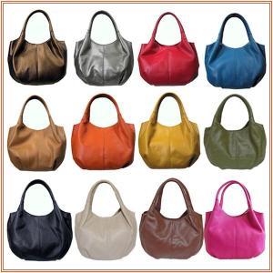 レディースバルーンバッグ ミドルMサイズ プレーンタイプ ソフトレザーママバッグ romanbag