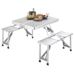 ラフォーレ DXアルミピクニックテーブル CAPTAIN STAG 折りたたみ アウトドアテーブル|romanbag