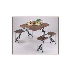 〔送料無料〕激安!ブランチ 杉製ピクニックテーブルとイス5点セット ブラウン|romanbag