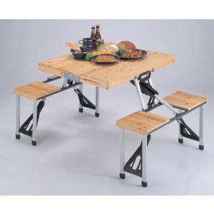 〔送料無料〕運動会激安!シダー 杉製ピクニックテーブルとイス5点セット ナチュラル|romanbag