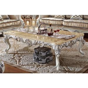 ロココ調大理石天板センターテーブル