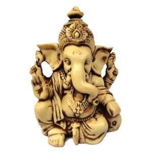 【夢をかなえるゾウ ガネーシャ像 アンティーク風仕上げ ヒンズー教の神像 彫像 彫刻 高さ 約9cm...