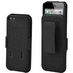 Aduro キックスタンド&ベルトクリップ(at&t、ベライゾン、t-mobileの&スプリント)とappleのiphone se / 5 / 5s用シェルケースホルスターセット|romoshop