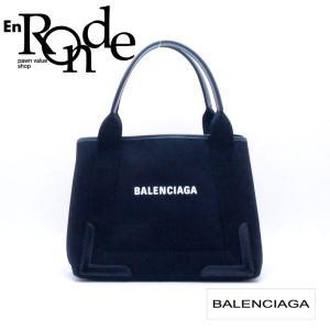 バレンシアガ トートバッグ ネイビーカバ S 339933 レザー/キャンバス ブラック 中古 新入荷 おすすめ OB0552 新着|ronde